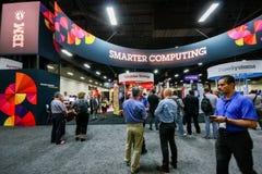 Cabine van Smart die bij de Rand 2013 gegevens verwerken van tentoonstellingsibm Stock Afbeelding