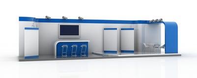 Cabine vazia da exposição, ilustração do espaço da cópia Fotografia de Stock