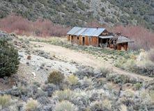 Cabine velha perto dos meus, Nevada Fotos de Stock Royalty Free