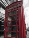 Cabine vermelha em Londres foto de stock
