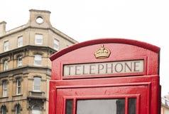 Cabine vermelho do telefone em Londres. Fotografia de Stock