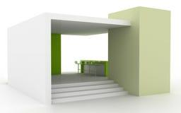 Cabine vide d'exposition, illustration de l'espace de copie Image libre de droits
