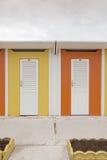 Cabines colorées photos stock