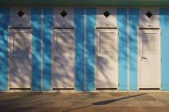 Cabines da praia Imagem de Stock