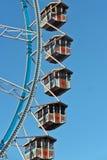 Cabines da roda de Ferris com coração Imagens de Stock Royalty Free