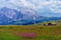 Cabines in de Alpen Stock Afbeelding