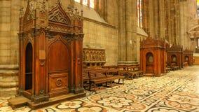 Cabines de confession au Duomo Images stock