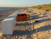 Cabines de la playa fotografía de archivo