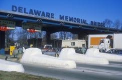 Cabines de pedágio à ponte de memorial de Delaware Imagens de Stock Royalty Free