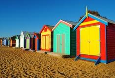 Cabines de plage de Melbourne Photos libres de droits
