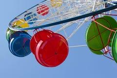 Cabines de roue de Ferris image stock