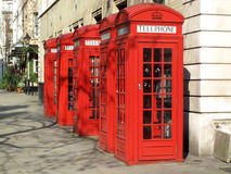 Cabines de telefone de Londres Imagens de Stock Royalty Free