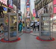 Cabines de telefone no Times Square Fotografia de Stock Royalty Free