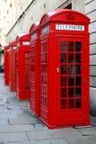 Cabines de telefone vermelhas Imagem de Stock Royalty Free