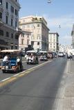 Cabines de touristes à Rome Image stock