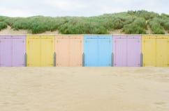 Cabines della spiaggia in Domburg Immagini Stock