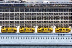 Cabines em um navio de cruzeiros Imagem de Stock