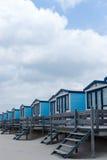 Cabines sur la plage Photographie stock libre de droits