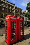 Cabines téléphoniques de Londres Images libres de droits