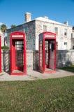 Cabines téléphoniques des Bermudes Photographie stock libre de droits