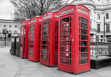 Cabines téléphoniques rouges Photos libres de droits
