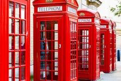 Cabines téléphoniques rouges Photos stock