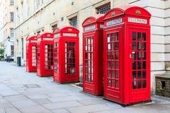 Cabines téléphoniques rouges Images libres de droits
