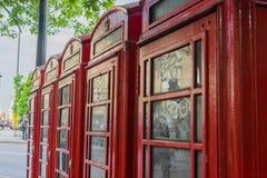 Cabines téléphoniques rouges Photo libre de droits