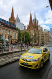 13 CABINES, Taxi Melbourne, Australië Stock Foto