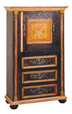 Cabinet 02. Cabinet in the style of period furniture on white background Stock Photography