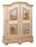 Cabinet 11. Cabinet in the style of period furniture on white background Royalty Free Stock Photos