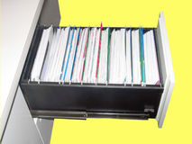 Cabinet. Filing cabinet Royalty Free Stock Photos