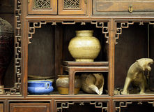 A cabinet of antiques Stock Photo