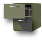 Cabinet. For archive papers and information vector illustration