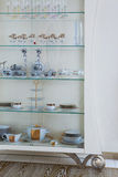 Cabinet with beautiful dishes Royalty Free Stock Image