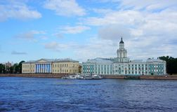 Cabinet of curiosities. View of the Kunstkammer in St. Petersburg Royalty Free Stock Photos