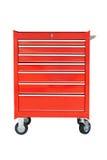 Cabinet d'outils mobile de tiroir - d'isolement Images stock