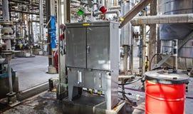 Cabinet de brouillard d'huile de lubrification de raffinerie ou d'usine chimique Photographie stock libre de droits