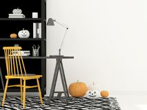 Cabinet with decorations for Halloween Stock Photo