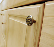 Cabinet door with handle Royalty Free Stock Photo