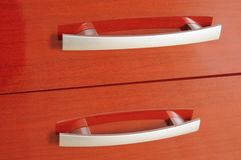 Cabinet drawer handle Stock Images