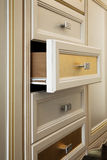 Cabinet with drawers. Beautiful cabinet with drawers in a modern room Stock Photography