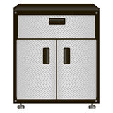Cabinet with drawers for tools. The two-door steel cabinet with drawers for tools. Vector illustration Royalty Free Stock Image