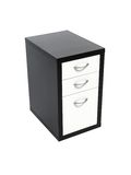 Cabinet Draws. A set of cabinet draws isolated against a white background Royalty Free Stock Images