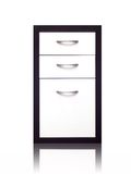 Cabinet Draws. A set of cabinet draws isolated against a white background Stock Image
