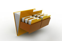 Cabinet with file folder. In white background Royalty Free Stock Photography