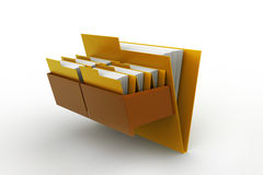 Cabinet with file folder. In white backgroundc Stock Image