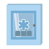 Cabinet first aid kit medical cross symbol Royalty Free Stock Photography