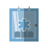 Cabinet first aid kit medical symbol shadow. Vector illustration eps 10 Royalty Free Stock Photo