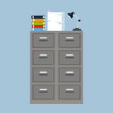 Cabinet folder file binder lamp pile document. Vector illustration eps 10 Stock Photos